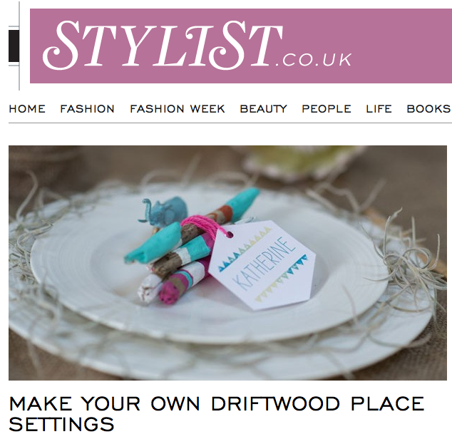 Featured Make Your Own Driftwood Place Settings On Stylist Magazine Blog