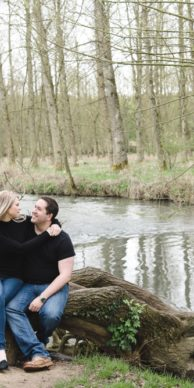 minster lovell ruins engagement session photo