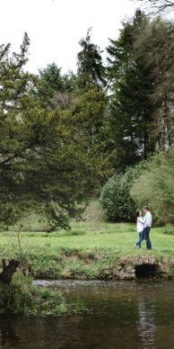 Cowley Manor Spring Engagement Session Photo